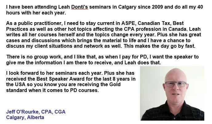 Professional Development Testimonals - Advantage Montreal Seminars Inc.